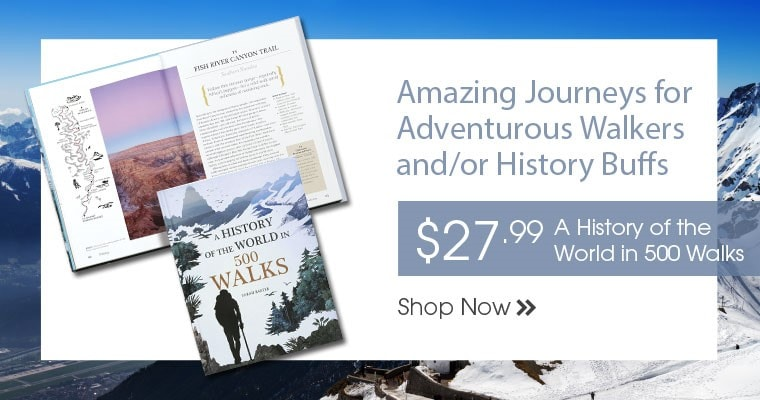 A History of the World in 500 Walks by Sarah Baxter
