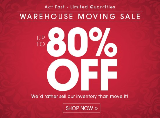 Warehouse Moving Sale