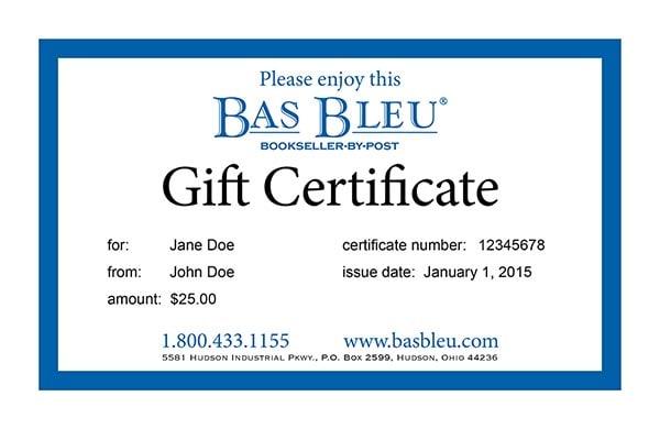 gift certificate email bas bleu ec9999