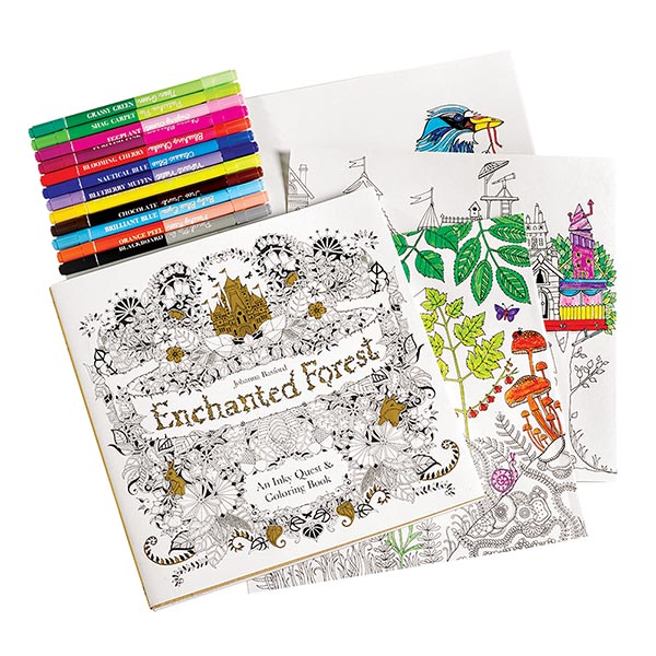 Enchanted Forest An Inky Quest And Coloring Book At Bas Bleu