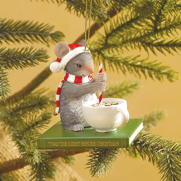 stirring mouse ornament - Mouse Decorations Christmas
