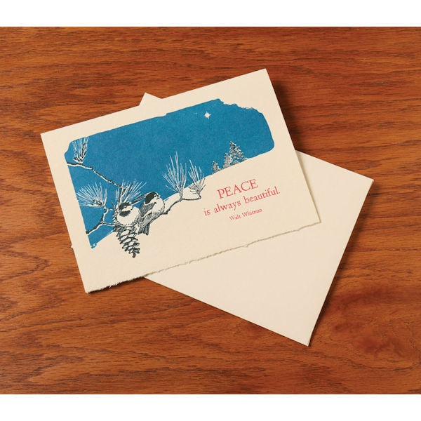 beautiful peace letterpress holiday cards - Letterpress Holiday Cards