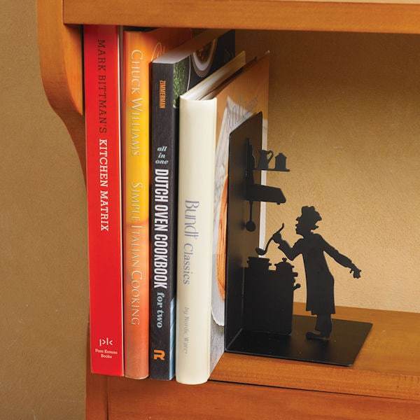 Kitchen Bookends: Bookends For Kitchen Cookbooks