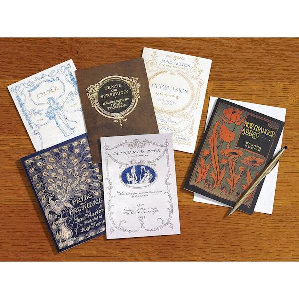 Vintage Book Cover Postcards : Jane austen vintage book covers note cards bas bleu um