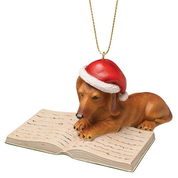Well-Read Dachshund Ornament | 2 Reviews | 5 Stars | Bas Bleu | UM5366