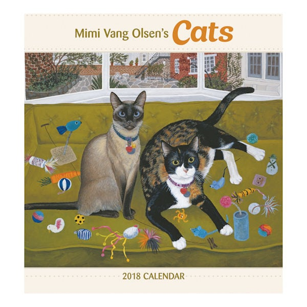 cats in art 2018 wall calendar