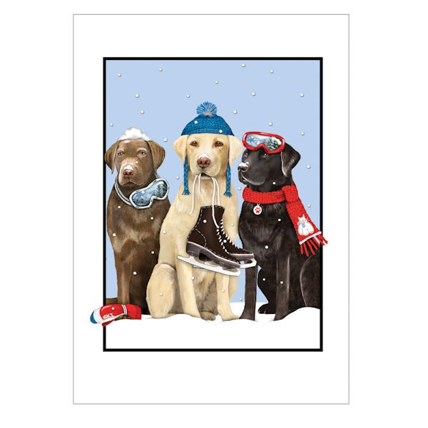 winter dogs holiday cards - Dog Holiday Cards