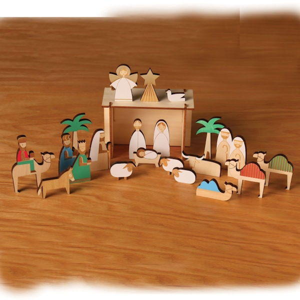 Nativity Wooden Advent Calendar 6 Reviews 5 Stars Bas Bleu