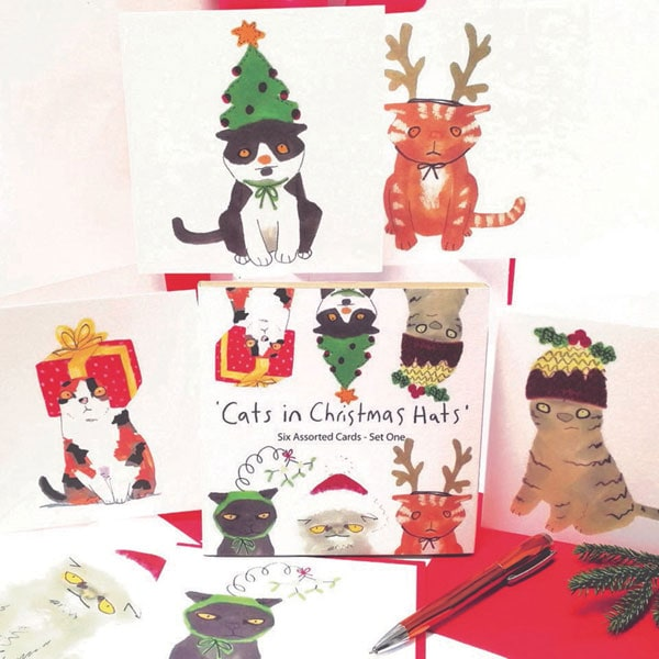 7c20b7556223c Cats in Christmas Hats Cards