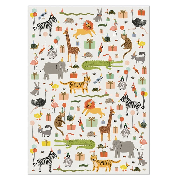 party animal wrapping paper bas bleu up8422