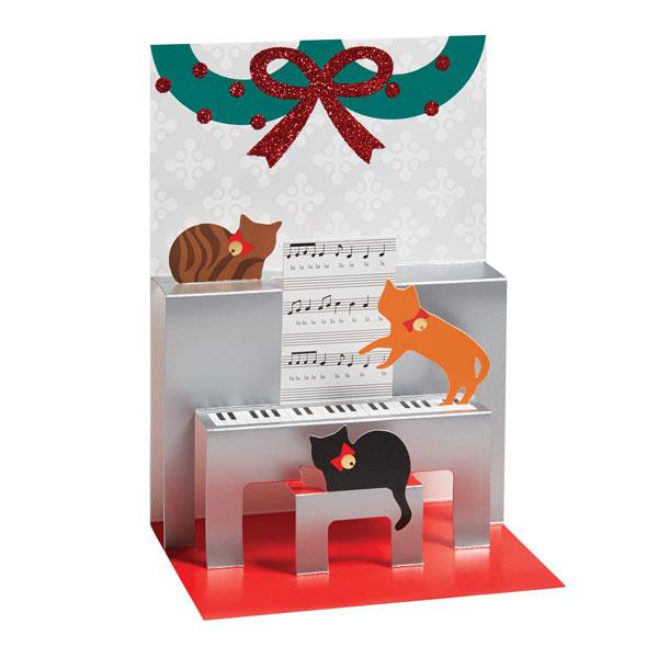 Caroling Cats Pop-Up Christmas Greeting Cards