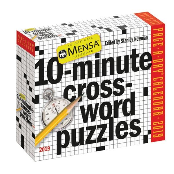 2019 Mensa 10 Minute Crossword Calendar