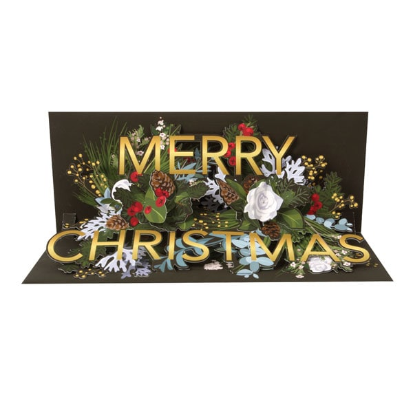 Christmas Greeting Images.Comfort Joy Pop Up Christmas Greeting Card