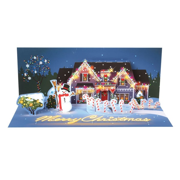 Pop Up Christmas Greeting Card