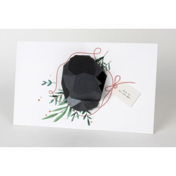 Lump Of Coal For Christmas.Lump Of Coal Christmas Card