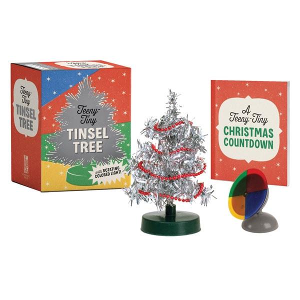 Tiny Christmas.Teeny Tiny Tinsel Tree