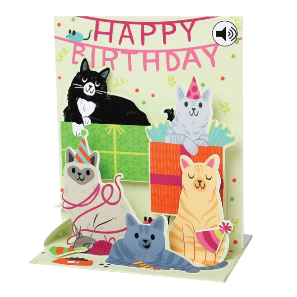 Singing Cats Happy Birthday Card