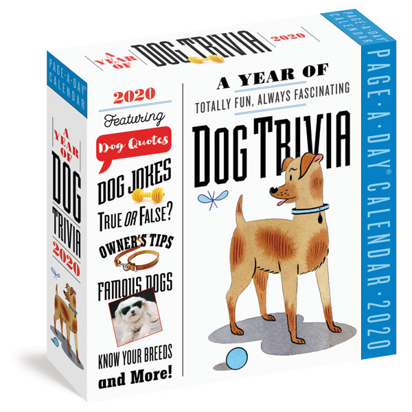 graphic relating to Page a Day Calendar titled 2020 Puppy Trivia Web page-a-Working day Calendar