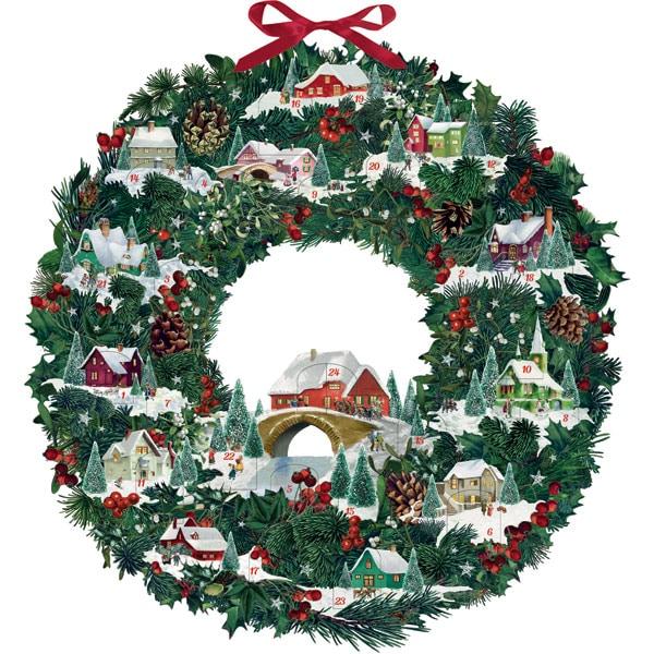 Christmas Wreath.Christmas Wreath Advent Calendar