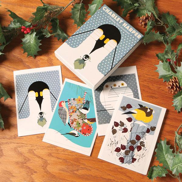Charley Harper Birds Holiday Cards Bas Bleu Us8192