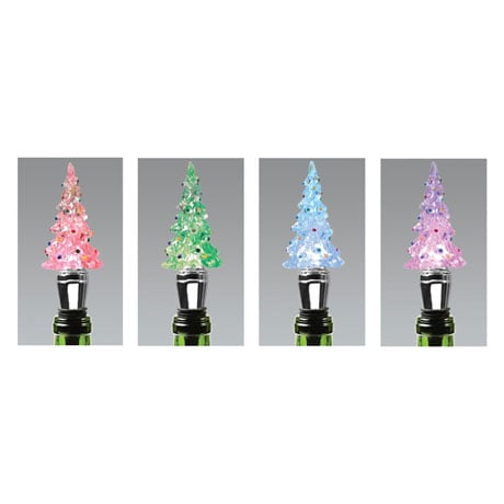 Color Changing Christmas Tree Wine Stopper