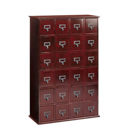 Library CD Storage Cabinet: 24 Drawer ...