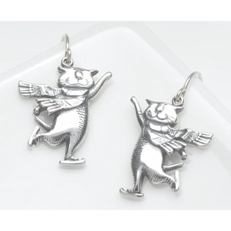 Gorey Skating Cats Earrings