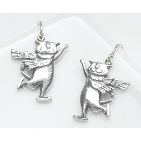 Gorey Skating Cats Earrings