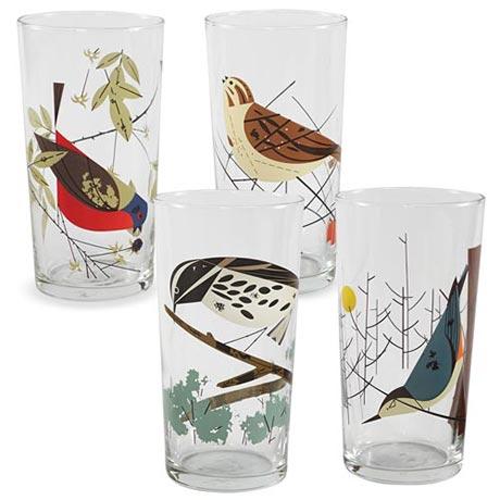 Charley Harper Birds Glasses