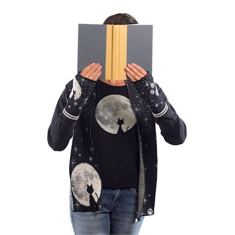 Moon Cat Long-Sleeve T-Shirt