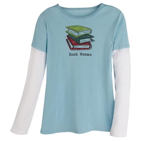 Book Woman Long Sleeve T-Shirt