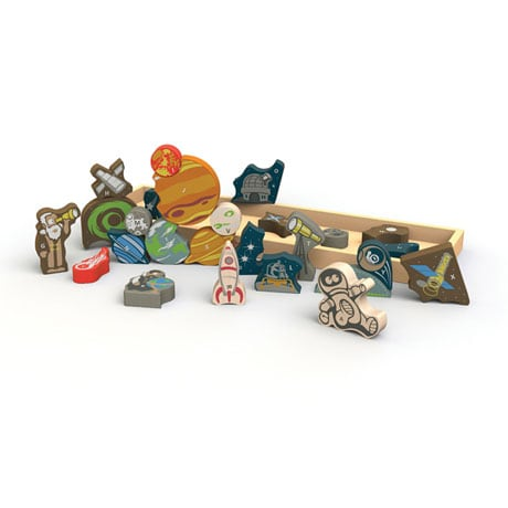 Space A to Z Puzzle and Playset