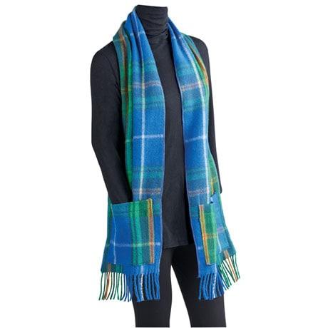 Scottish Tartan Wool Pocket Scarf