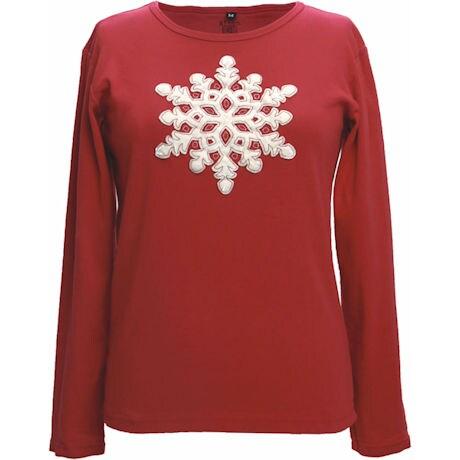 Velvet Snowflake T-Shirt
