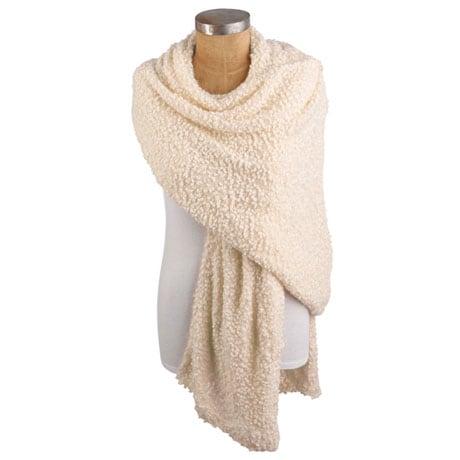 Comfort Hug Nubby-Weave Shawl