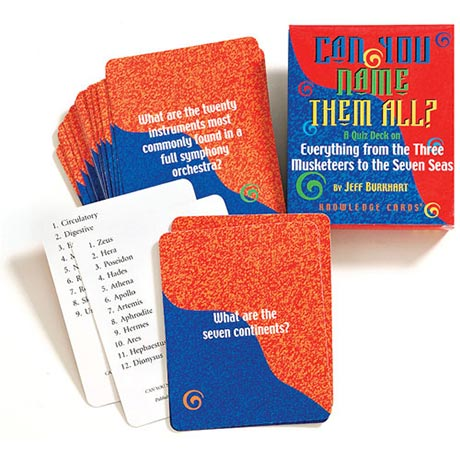 Can You Name Them All? Knowledge Cards - Volume One