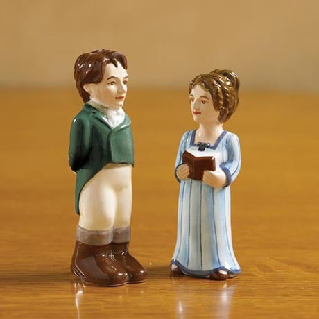 Mr. Darcy and Miss Bennet Pride and Prejudice Salt and Pepper Shakers