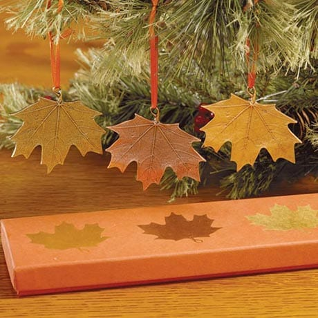Autumn Maple Leaves Ornaments