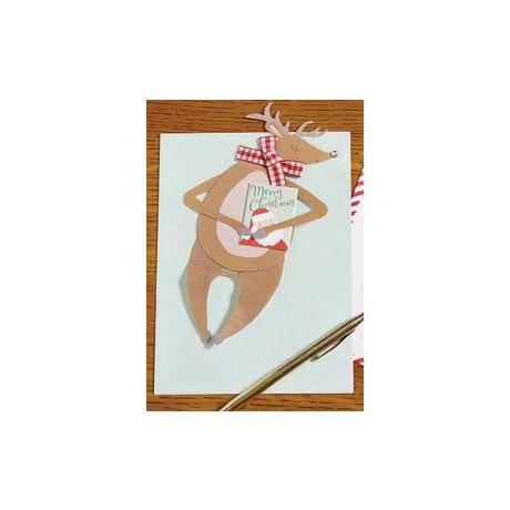 Sit Up Reindeer Card
