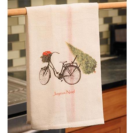 Joyeux Noel Bicycle Tea Towel