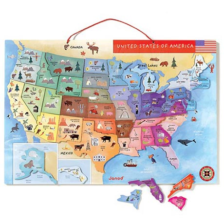 Magnetic Map of the United States of America