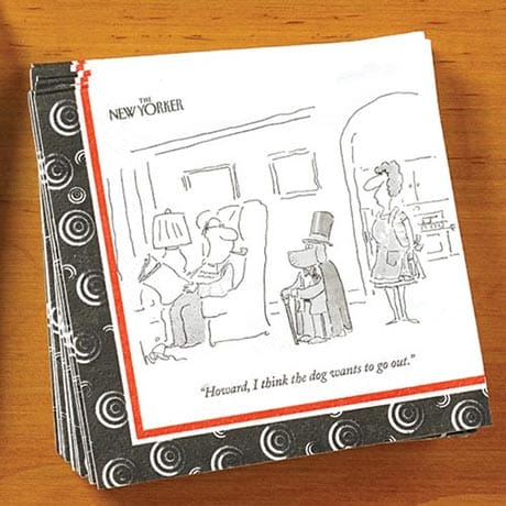 <i>New Yorker</i> Dog Cartoon Napkins (Set of 2)