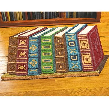 Classic Books Shaped Rug