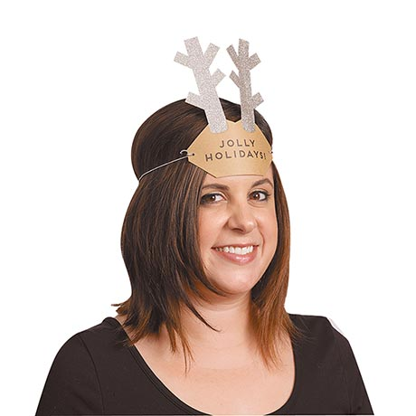 Wearable Antler Christmas Cards
