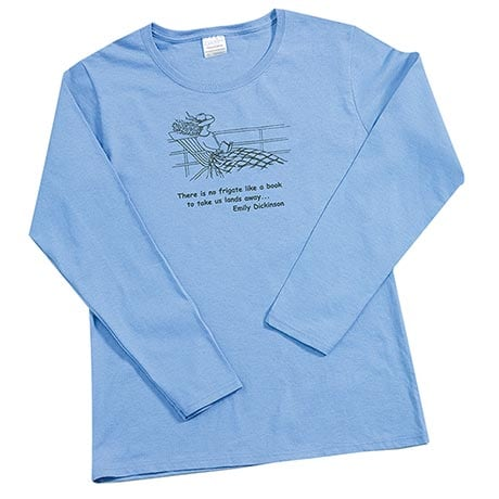 No Frigate Like a Book Long-Sleeve T-Shirt