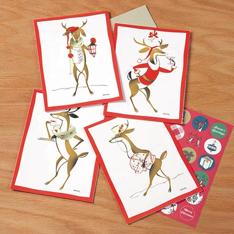 Reindeer Christmas Collection Note Cards