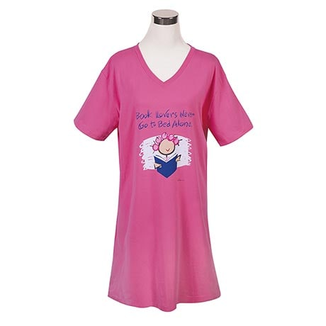 Book Lovers Never Go to Bed Alone Nightshirt