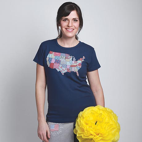 United States Map Quilt T-Shirt