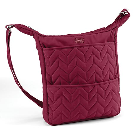 Compass Shoulder Pouch - Cranberry (burgundy)