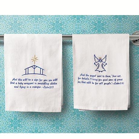 Biblical Christmas Towels